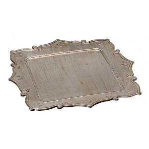 Δίσκος Πλαστικός Τετράγωνος Ασημί Αντικέ 33εκ. Espiel (TIK130)