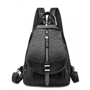 Γυναικεία τσάντα πλάτης LBAG-0003, μαύρη