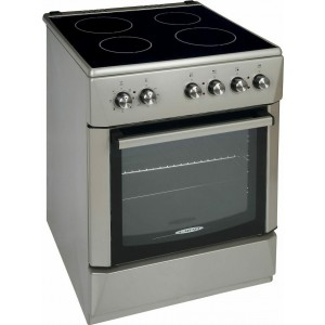 Κουζίνα 64lt με Εστίες Κεραμικές Silver Carad KMX50161