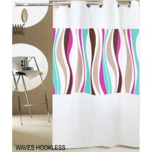 Κουρτίνα Μπάνιου (180x200) San Lorentzo Waves