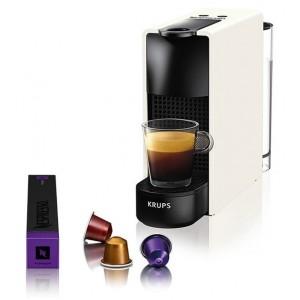 Krups XN1101S Essenza Mini Pure White Kαφετιέρα Nespresso + Δώρο Κουπόνι 30€ Για Κάψουλες Nespresso