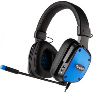 Gaming Headset Dpower 3.5mm 40mm Blue SADES SA-722-BL