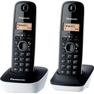 Panasonic KX-TG1612 Duo Μαύρο / Λευκό