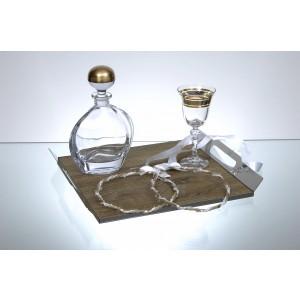 Καράφα Γάμου Κρυστάλλινη με σχέδιο Bronze(LA800/A/BR)