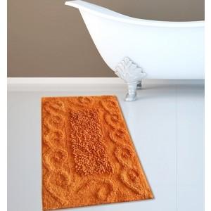 Πατάκι Μπάνιου (45x70) Πορτοκαλί Cotton Spiral Loop San Lorentzo (2110ORA)