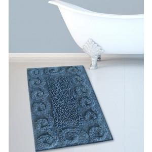 Πατάκι Μπάνιου (45x70) Μπλε Cotton Spiral Loop San Lorentzo (2110BLUE)