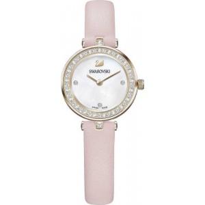 Swarovski Ρολόϊ Aila Dressy Mini Pink Leather Strap (5376648)