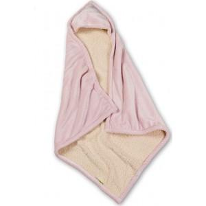Κουβέρτα Βρεφική Με Κουκούλα Mickey Roz Nima Αγκαλιάς - 100x100cm