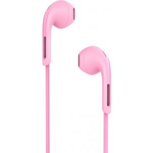 Hands Free Hoco M39 Rhyme Sound Earphones Stereo 3.5mm Ροζ με Μικρόφωνο και Πλήκτρο Λειτουργίας