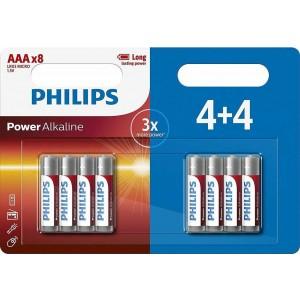 Philips Power Alkaline AAA (8τμχ) LR03P8BP-05