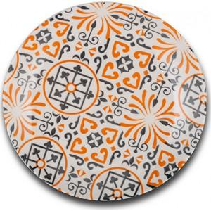 """Πιάτο φρούτου Nava πορσελάνινο """"Maiolica orange"""" 19cm (10-099-132)"""