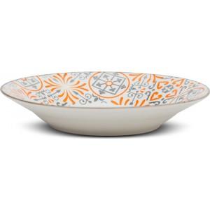 """Πιάτο σούπας Nava πορσελάνινο """"Maiolica orange"""" 20.5cm (10-099-133)"""