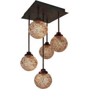 Viokef Φωτιστικό Οροφής Μεταλλικό Χρυσό Sissy (4192600)