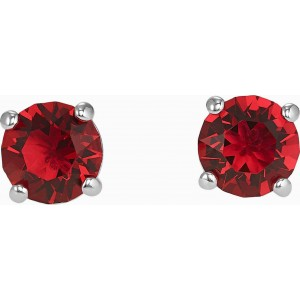 Swarovski Σκουλαρήκια Επιπλατινωμένα, Attract Red (5493979)