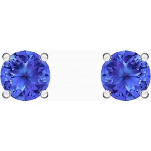 Swarovski Σκουλαρήκια Επιπλατινωμένα, Attract Blue (5512385)