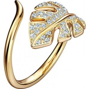 Swarovski Δαχτυλίδι Νο55 Επίχρυσο Κίτρινο Χρυσό, Tropical Leaf (5519257)