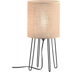 Viokef Φωτιστικό Επιτραπέζιο Μονόφωτο Senso με Λινάτσα & Ξύλινη Βάση 18x42cm 4216400