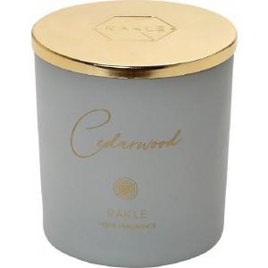 """Αρωματικό Κερί Espiel Με Καπάκι Γκρι-Χρυσό """"Cedarwood"""" 210G (RAB433K6)"""