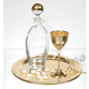Ποτήρι Κρασιού Επάργυρο Σφυρήλατο-Χρυσό(2302G)