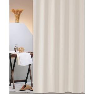 Κουρτίνα Μπάνιου Υφασμάτινη (180x200) San Lorentzo Solid Μπεζ 1030B BEIGE