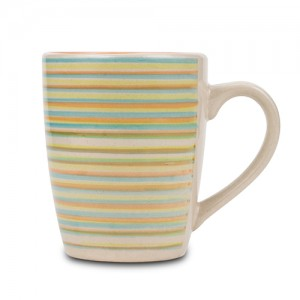 """Κούπα stoneware """"Lines orange"""" 350ml 10-141-007"""