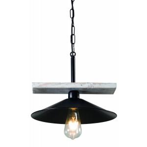 Arkolight Φωτιστικό Οροφής Κρεμαστό Ράγα Ξύλο/Μέταλλο Μαύρο 373-3/1