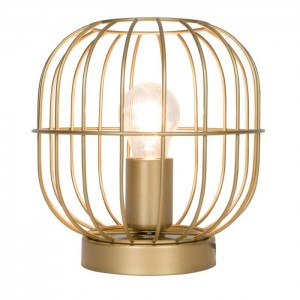 Viokef Επιτραπέζιο Φωτιστικό Μεταλλικό Χρυσό Zenith (4211401)