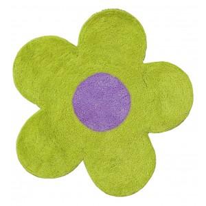 Πατάκι Μπάνιου (60x60) San Lorentzo DBL Face Daisy Lime/Purple 1444LI/PUR