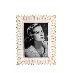 Κορνίζα Πολυεστερική Φύλλα Χρυσά Μπεζ 8x10 Idea Home (43512)