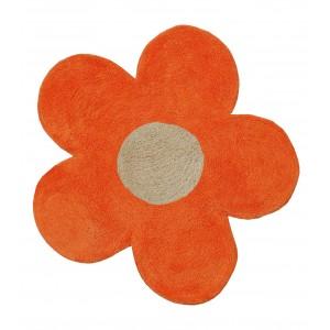 Πατάκι Μπάνιου (60x60) San Lorentzo DBL Face Daisy Orange/Ecru 1444OR/EC