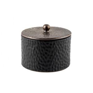 Φοντανιέρα Κεραμική Μαύρη Μπρονζέ 14ΕΚ Idea Home (44862)