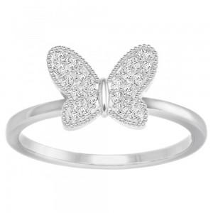 Swarovski Δαχτυλίδι No50 Επιπλατινωμένο, Field Butterfly (5284086)