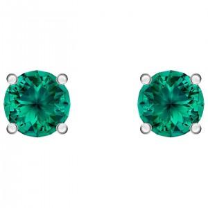 Swarovski Σκουλαρίκια Με Πράσινες Πέτρες Attract Stud Pierced Earrings, Green, Rhodium Plated (5512384)