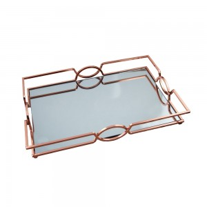Δίσκος Μεταλλικός Σε Ροζ Χρυσό Χρώμα 45 x 30cm La Vista (NS2023290)