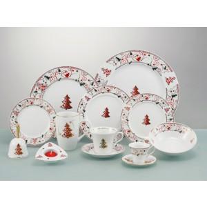 Χριστουγεννιάτικο Σερβίτσιο 20 τεμ. Cryspo Trio Yuletide Red