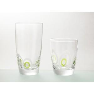 Ποτήρια Νερού 6 τεμαχίων Trio Poua Green