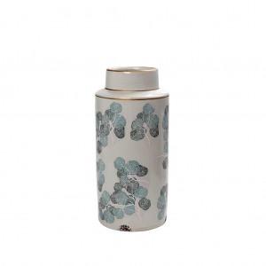 Βάζο Κεραμικό ''Φύλλα'' Κρεμ 10,5εκ. Espiel (CER2257)