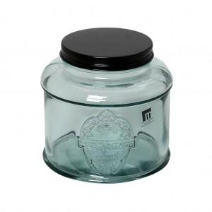 Δοχείο Γυάλινο Διάφανο Με Μεταλλικό Καπάκι 1,5lt 15εκ. Espiel (MED144K6)