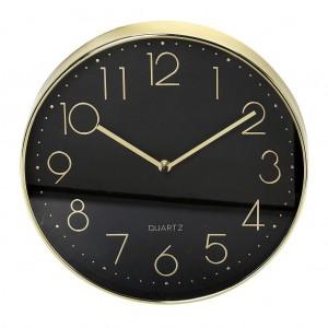 Ρολόι Polyresin Μαύρο-Χρυσό 29,3εκ. Espiel ROL513