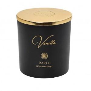 """Αρωματικό Κερί Espiel Με Καπάκι Μαύρο-Χρυσό """"Vanilla"""" 210G (RAB431K6)"""