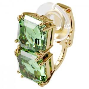 Swarovski Σκουλαρήκι Πράσινο, Επιμετάλλωση Σε Χρυσαφί Τόνο, Millenia (5602389)