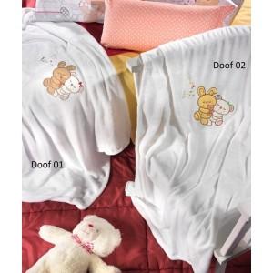 Κουβέρτα Fleece Κούνιας Nima Hoot Doof 02 (110x140)