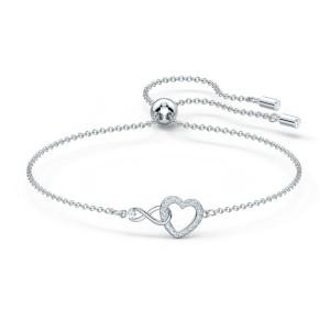 Swarovski Βραχιόλι Επιροδιωμένο, Infinity Heart (5524421)