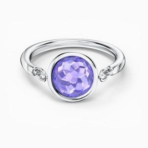 Swarovski Δαχτυλίδι Νο55 Επιπλατινωμένο, Thalia Pyrple (5560946)