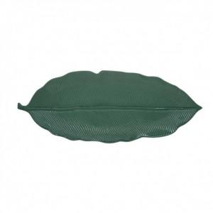 Πιατέλα Πράσινη 39x16εκ Leaves Πορσελάνη (2050LEGR)