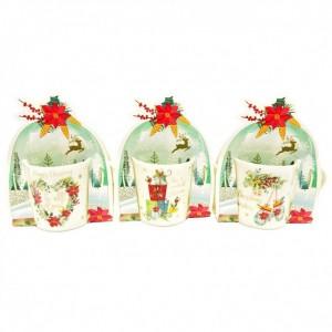 Κούπα Χριστουγεννιάτικη Πορσελάνη Σε Συσκευασία Δώρου Pointsettia 312ml Marva (806014)