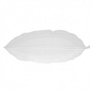 Πιατέλα Λευκή 39x16εκ Leaves Πορσελάνη (2050LEWH)