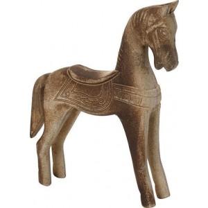 Διακοσμητικό Αλογο φυσικό ξύλο Espiel 21,5εκ KIR229K2