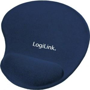 LogiLink Mousepad with GEL Wrist Rest Support Blue