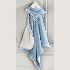Κουβέρτα Βρεφική Με Κουκούλα Mickey Blue Nima Αγκαλιάς - 100x100cm